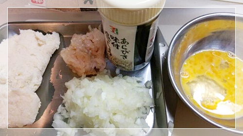 糖質制限人気レシピのおからハンバーグの材料