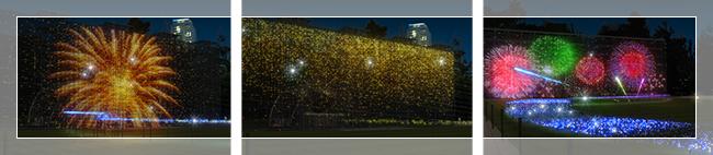 ミッドタウンのサマーライト花火の様子