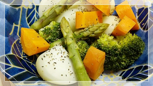 脂肪燃焼スープ野菜の日に便利な3色温野菜