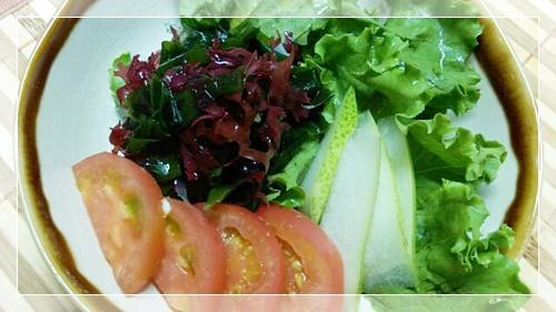 脂肪燃焼スープ野菜の日に使える野菜海藻サラダ