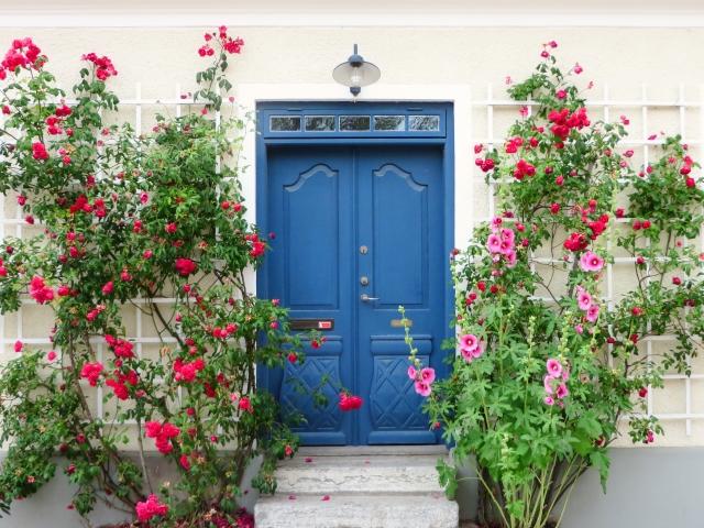 読者様をお迎えするための薔薇と扉