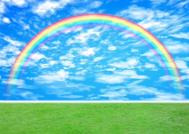潜在意識を味方につけて希望を叶えて浮かび上がったきれいな虹