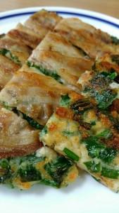 豚肉と納豆のチヂミ