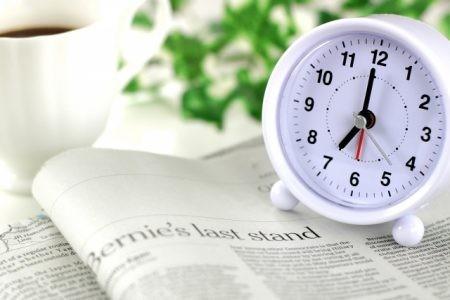 19時を指す時計